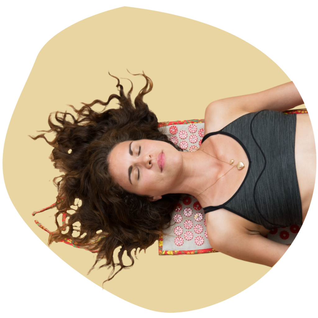 Image illustrative stress tapis acupression Igla